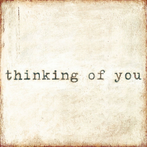 """24"""" x 24"""" Thinking Of You Art Print by Sugarboo Designs"""