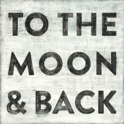 "24"" x 24"" To The Moon And Back Art Print by Sugarboo Designs"