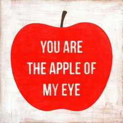 "24"" x 24"" You Are The Apple Of My Eye Art Print by Sugarboo Designs"