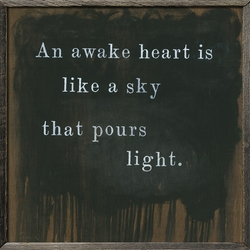 "25"" x 25"" An Awake Heart Art Print with Grey Wood Frame by Sugarboo Designs"