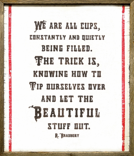 """25"""" x 29"""" We Are All Cups Art Print by Sugarboo Designs"""