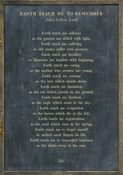 "25"" x 36"" Charcoal Earth Teach Me Poetry Collection Art Print with Grey Wood Frame by Sugarboo Designs"