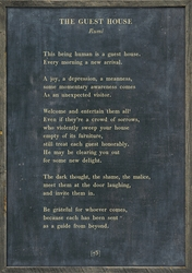 """25"""" x 36"""" Charcoal The Guest House Poetry Collection Art Print with Grey Wood Frame by Sugarboo Designs"""