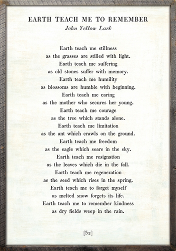 "25"" x 36"" White Earth Teach Me Poetry Collection Art Print with Grey Wood Frame by Sugarboo Designs"