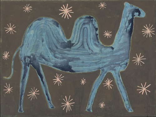 """35"""" x 24"""" Camel In The Stars Art Print Gallery Wrap by Sugarboo Designs"""
