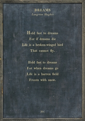 "35"" x 46"" Charcoal Dreams Poetry Collection Art Print with Grey Wood Frame by Sugarboo Designs"