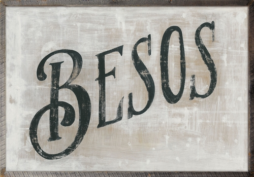 """36"""" x 25"""" Besos Art Print with Grey Wood Frame by Sugarboo Designs"""