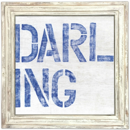 "36"" x 36"" Darling Art Print With White Wash Frame by Sugarboo Designs"