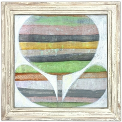 """36"""" x 36"""" Emerson's Flower Art Print With White Wash Frame by Sugarboo Designs"""