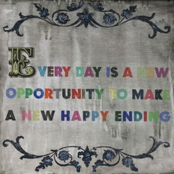 """36"""" x 36"""" Every Day Is A New Opportunity Art Print by Sugarboo Designs"""