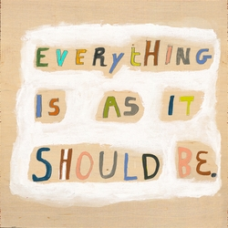 """36"""" x 36"""" Everything Is As It Should Be Art Print Gallery Wrap by Sugarboo Designs"""
