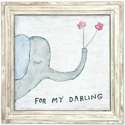 "36"" x 36"" For My Darling Art Print With White Wash Frame by Sugarboo Designs"