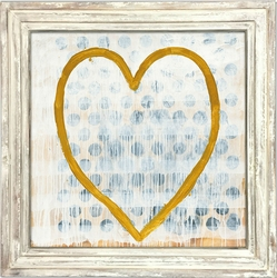 """36"""" x 36"""" Heart of Gold Art Print With White Wash Frame by Sugarboo Designs"""