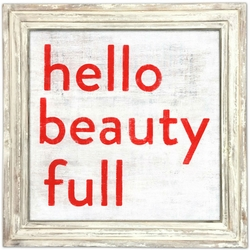 "36"" x 36"" Hello Beauty Full Art Print With White Wash Frame by Sugarboo Designs - Special Order"