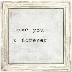 """36"""" x 36"""" Love You X Art Print With White Wash Frame by Sugarboo Designs"""