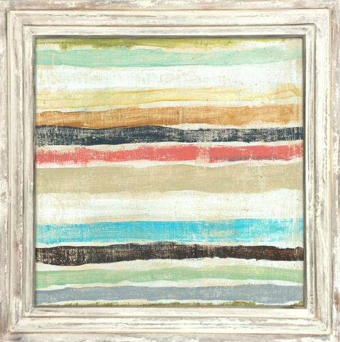 """36"""" x 36"""" Stripes Art Print With White Wash Frame by Sugarboo Designs"""
