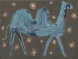 """45"""" x 34"""" Camel In The Stars Art Print Gallery Wrap by Sugarboo Designs"""