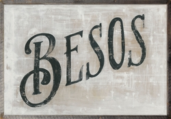 """46"""" x 35"""" Besos Art Print with Grey Wood Frame by Sugarboo Designs"""