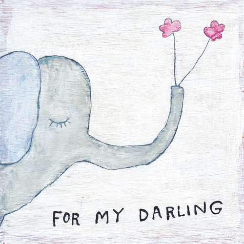 "46"" x 46"" For My Darling Art Print Gallery Wrap by Sugarboo Designs"