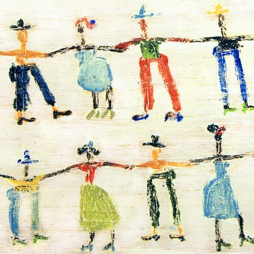"46"" x 46"" Little People Art Print Gallery Wrap by Sugarboo Designs"