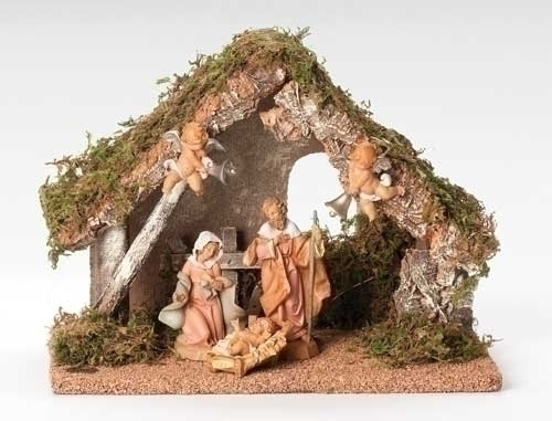 "Musical Wedding Gift Nativity Set (5 Piece) - 5"" Figurines - Fontanini"
