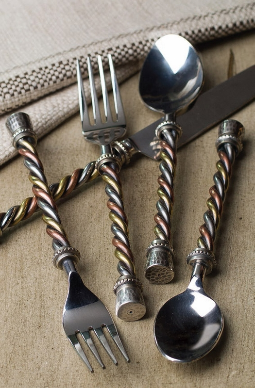 20pc twisted flatware set gg collection - Twisted silverware ...