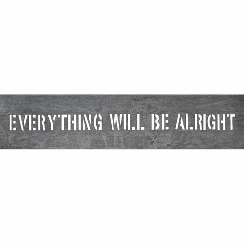 """7"""" x 31"""" Everything Will Be Metal Sign by Sugarboo Designs"""