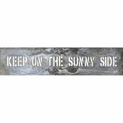"7"" x 31"" Keep On The Sunny Side Metal Sign by Sugarboo Designs"