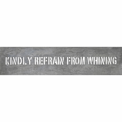 """7"""" x 31"""" Kindly Refrain Metal Sign by Sugarboo Designs"""