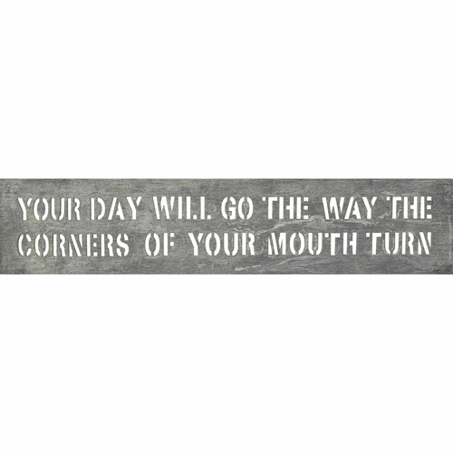 "7"" x 33"" Your Day Will Go Metal Sign by Sugarboo Designs"