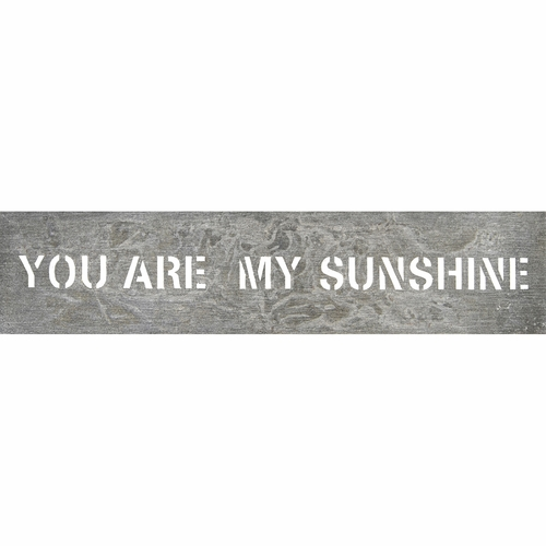 "7"" x 34"" You Are My Sunshine Metal Sign by Sugarboo Designs"