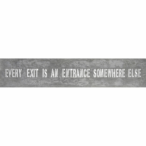 "7"" x 37"" Every Exit Metal Sign by Sugarboo Designs"