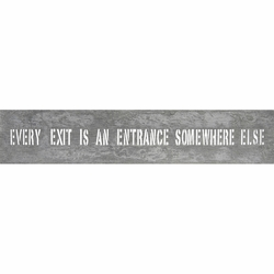 """7"""" x 37"""" Every Exit Metal Sign by Sugarboo Designs - Special Order"""