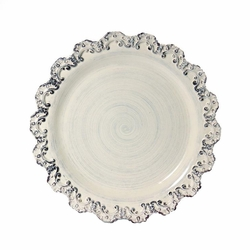 "(A) Baroque Cream Charger Plate 13.75""D - Set of 4 - Intrada Italy"