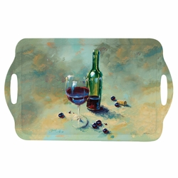 A Glass Half Full Large Melamine Tray by Pimpernel