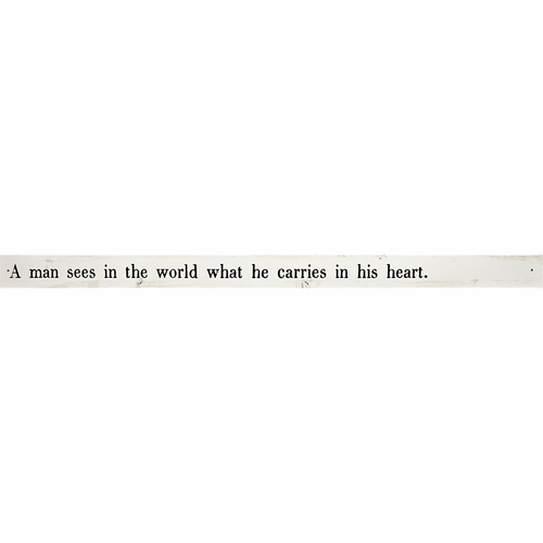 A Man Sees The World Poetry Stick by Sugarboo Designs