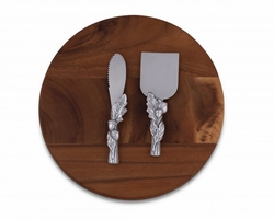 Acorn Oak Leaf Cheese Tool Set by Arthur Court