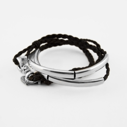 Addison Mini Natural Black Medium Bracelet by Lizzy James