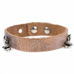 Aged Chestnut Refined Cuff - Antique White  - Lenny & Eva