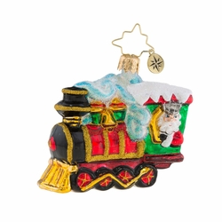 All Aboard Little Gem Ornament by Christopher Radko