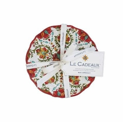 Allegra Red Appetizer Plates (Set of 4) by Le Cadeaux