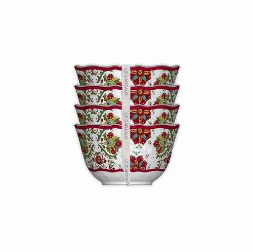 Allegra Red Dessert Bowls (Set of 4) by Le Cadeaux