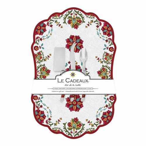 Allegra Red Large Cheeseboard by Le Cadeaux - Special Order
