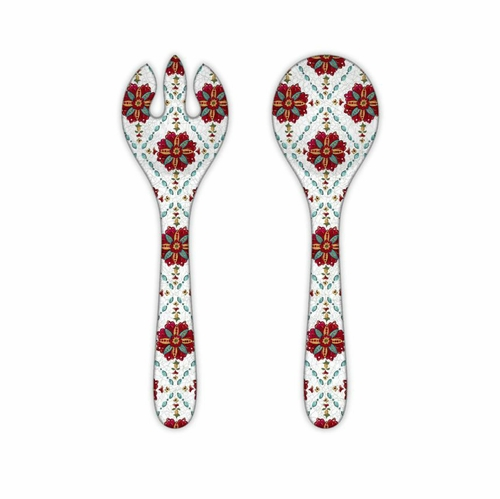 Allegra Red Salad Servers by Le Cadeaux
