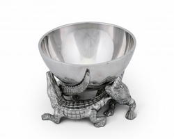 "PRE-ORDER - Available Late May - Alligator Bowl 5.5"" by Arthur Court"