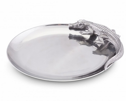 Alligator Oval Platter by Arthur Court