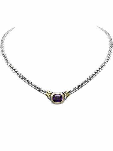 Amethyst Nouveau Double Strand Necklace by John Medeiros
