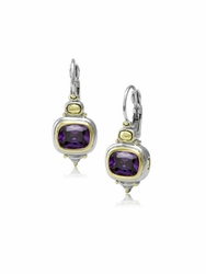 Amethyst Nouveau French Wire Earrings by John Medeiros