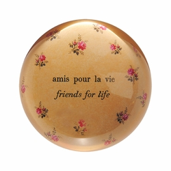 Amis Pour La Vie Paper Weight (Set of 2) by Sugarboo Designs