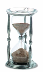 Ancient Large Coin Hourglass by Match Pewter